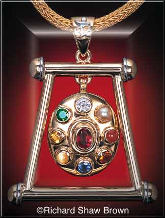 Click to view a large collection of Sri Navaratna Talisman designs by Richard Shaw Brown